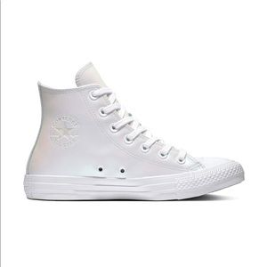Converse high top white Iridescent sneakers